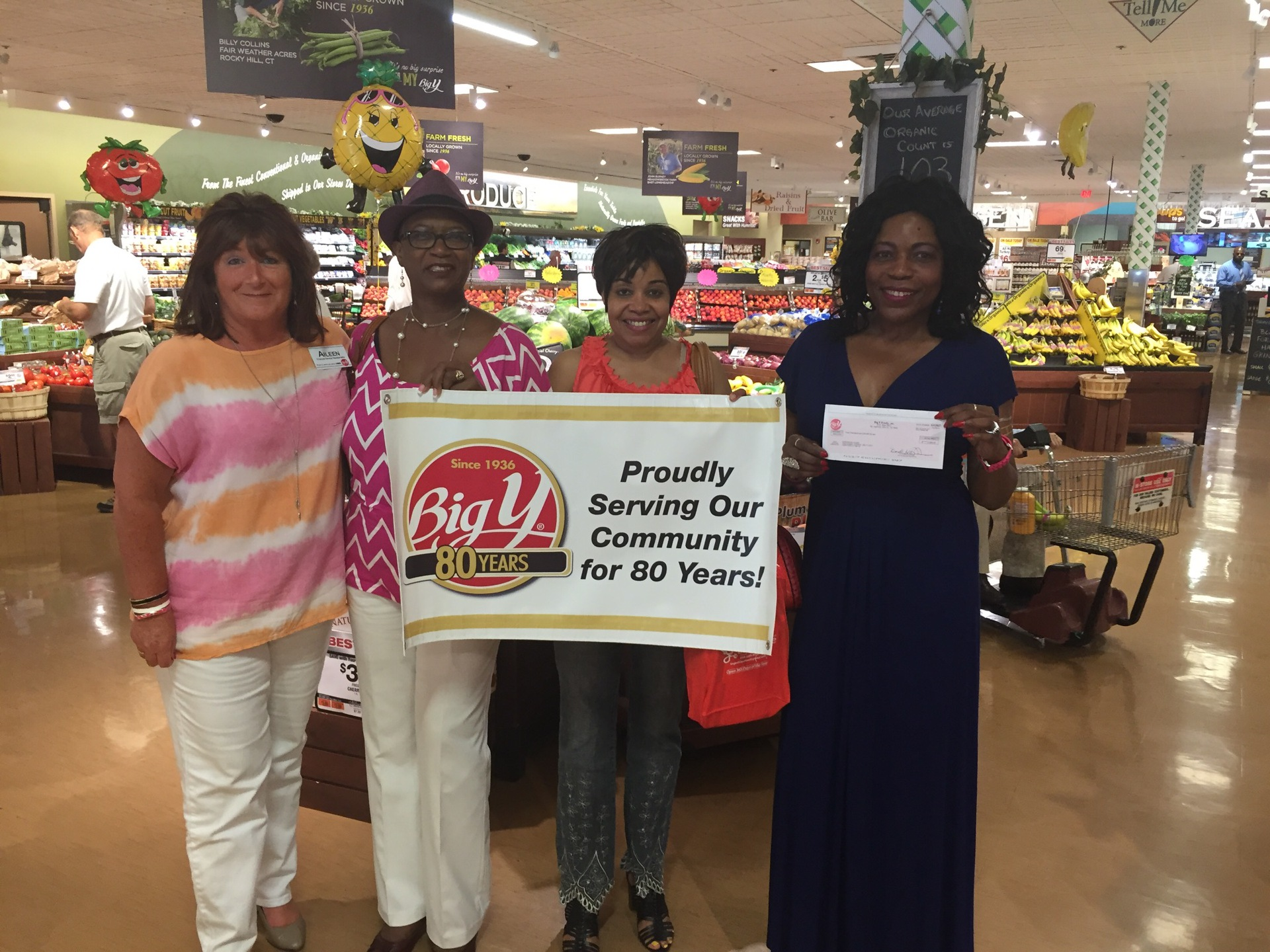 Big Y Class Market Rocky Hill donation to Gardner's House Inc.